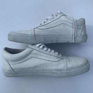 White leather Vans sneakers